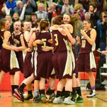 Choteau celebrates winning the Northern B challenge game against Fairfield in Conrad on Monday night.