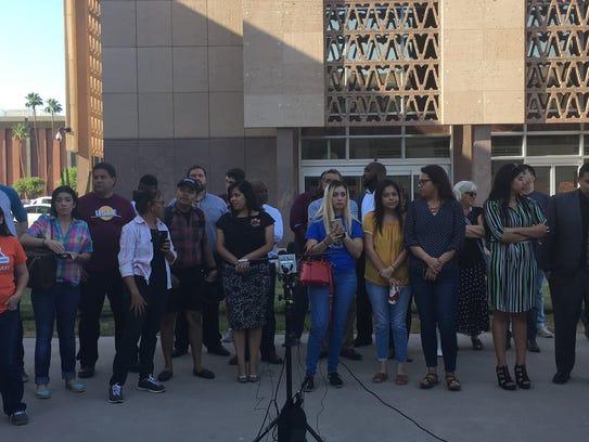 Several dozen DACA advocates hosted a press conference