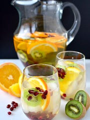 Try Champagne sangria for a different take on the champagne toast at midnight.