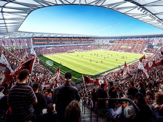 Sac Soccer and Entertainment Holdings release the first images of the proposed Major League Soccer stadiumdesigned by acclaimed architecture firm HNTB.