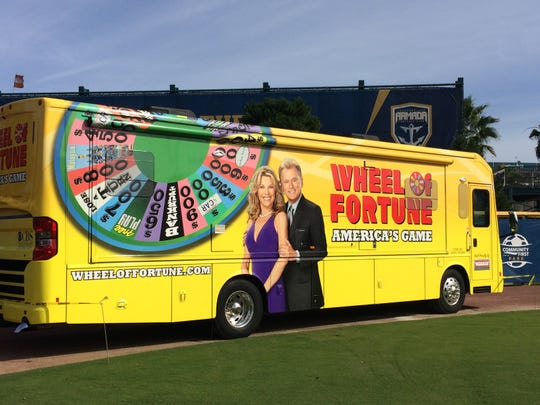 """Wendy Quinlan, of Port St. Lucie, auditioned for """"Wheel of Fortune"""" in December 2015 at a Wheelmobile stop at the Civic Center."""
