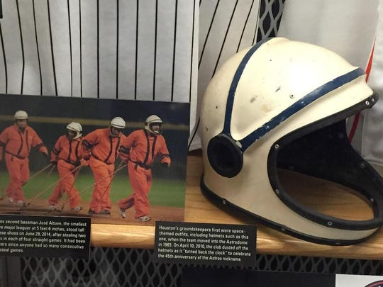 The grounds crew at the Astrodome wore these uniforms back when it opened in 1965.