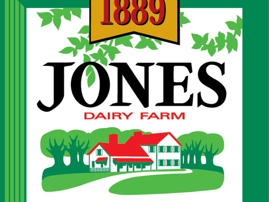 The Jones Dairy Farms logo is an illustration of an actual farmhouse that's part of the Jones Dairy Farm grounds that is still in use.