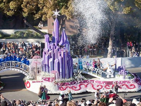 PASADENA, CA - JANUARY 01:  In this handout image provided by Disneyland, The Disneyland Resort entry in the 2016 Rose Parade brings to life the Disneyland Resort Diamond Celebration at the 127th Tournament of Roses Parade on January 1, 2016 in Pasadena, California.  (Photo by Scott Brinegar/Disneyland via Getty Images)