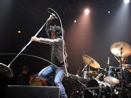 BYRON BAY, AUSTRALIA - JULY 27:  Cedric Bixler-Zavala of At The Drive-In performs on stage at Splendour In The Grass on July 27, 2012 in Byron Bay, Australia.  (Photo by Matt Roberts/Getty Images)