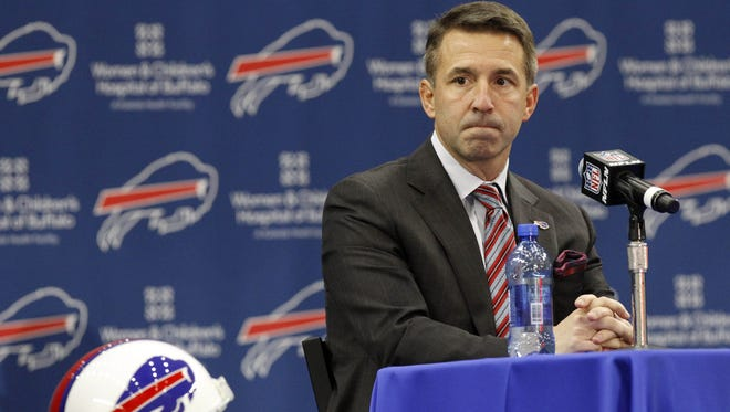 Buffalo Bills president Russ Brandon during a press conference at ADPRO Sports Training Center in 2015.