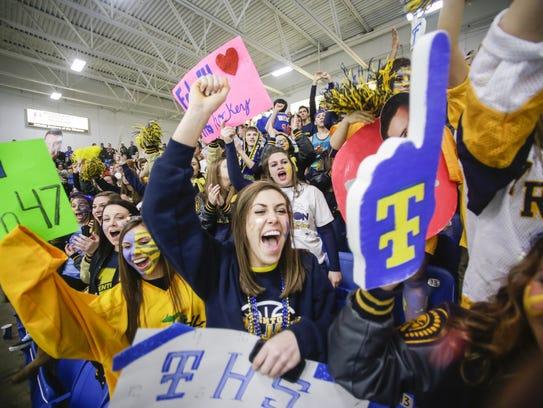 Trenton fans erupt in celebration as senior forward