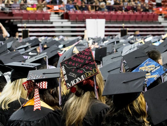 An NMSU Graduate thanks her parents for the support.