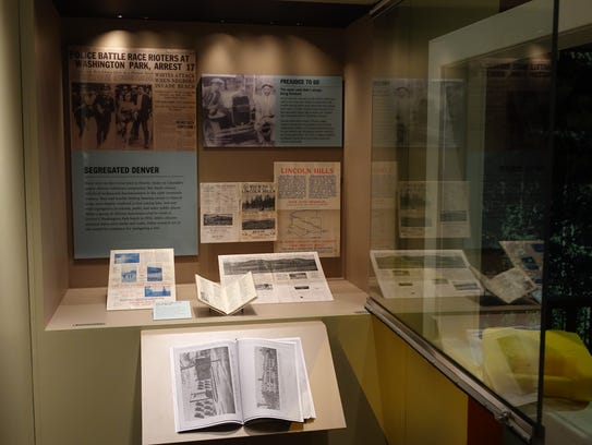 A display case at the History Colorado museum in Denver