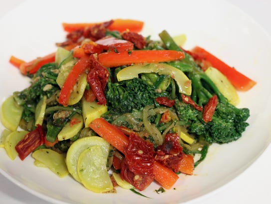 The pasta primavera is one of the new menu items you'll