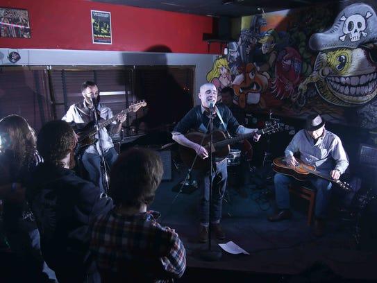 "Delaware musician Patrick ""Paddy"" Corcoran performs"