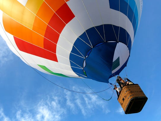Hot-air balloons took to the sky above Ashland for