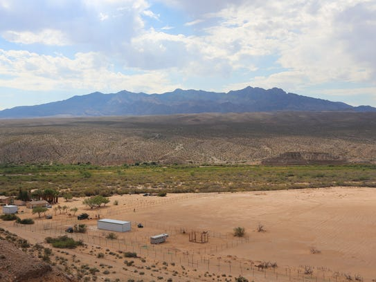 The Camel Safari property is bordered by BLM land and the Bundy Ranch.