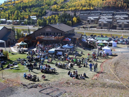 Patrons gather at the third-annual Rocktoberfest at