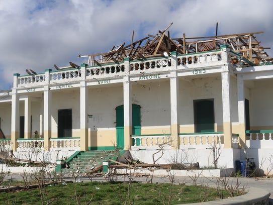 Hospital St. Antoine in Jérémie, Haiti, shows signs