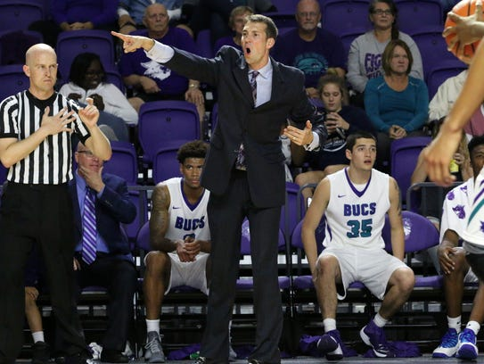 FSW coach Marty Richter directs the defense during