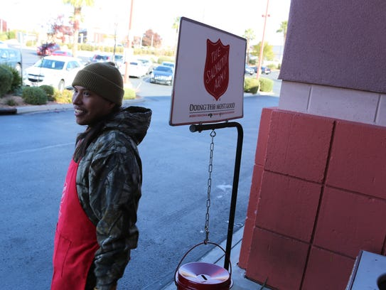 Tyler Goodman collects holiday-season donations for