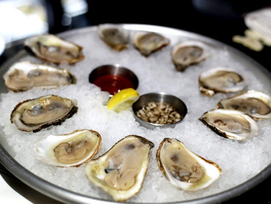 Raw oysters at The Revelry.