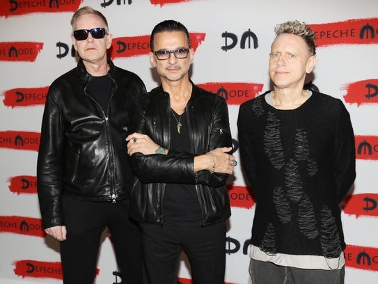Depeche Mode attend a photocall to launch the Global