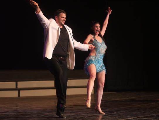 Brian West dances with Courtney Crain during Louisiana