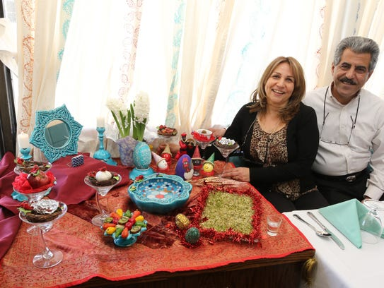 Marjan Javaherian and her husband, Reza Manesh, owners