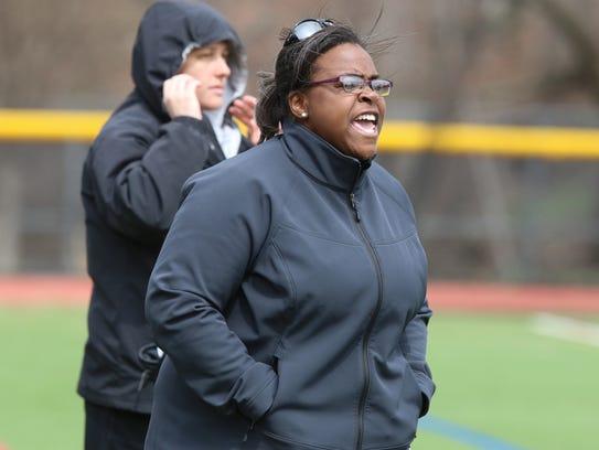 On the sidelines is Ridgewood's head coach Karla Mixon.