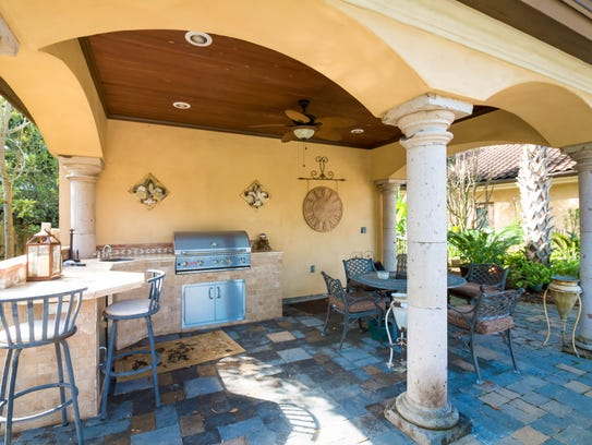 There is plenty of outdoor living and entertaining