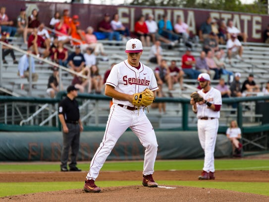 Florida State sophomore Drew Parrish will look to take on a greater role this season with the absence of ace pitcher Tyler Holton for the remainder of the season