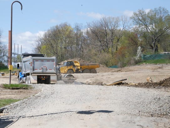 The Maplewood Park construction site on Mitchell Street