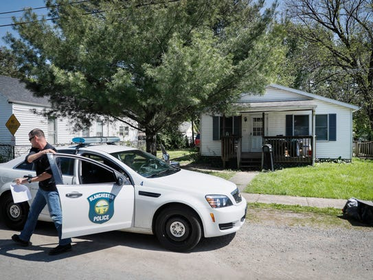 Police arrive to a home where they say a man with mental