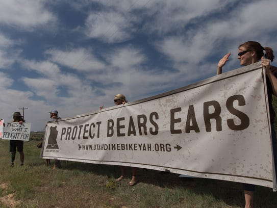Bears Ears supporters hold a rally, Monday, May 8,