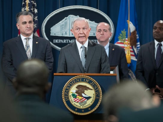 Attorney General Jeff Sessions delivers remarks at