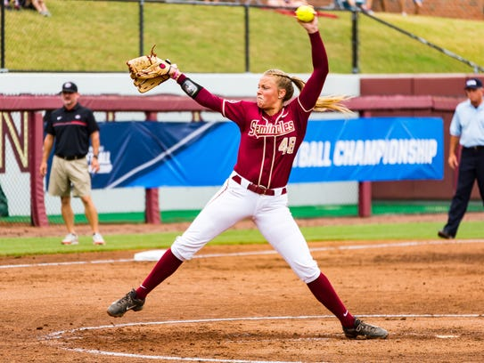 Florida State sophmore Meghan King (48) continued her