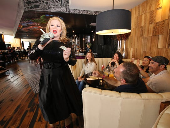 Diners at Kitchen restaurant in Palm Springs' Hard
