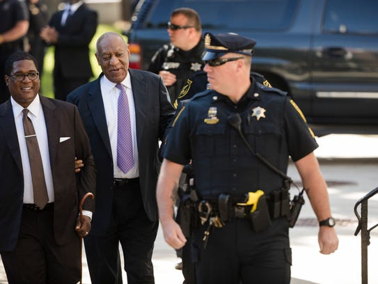Bill Cosby arrives for his sexual assault trial at