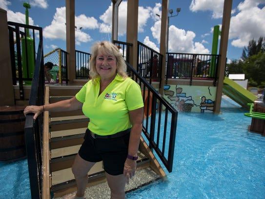 Sandy Greiner, waterpark manager at Sun Splash, is