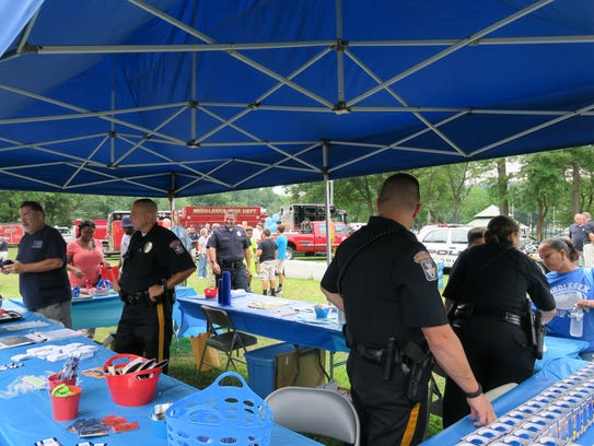 Middlesex Borough police officers participating in