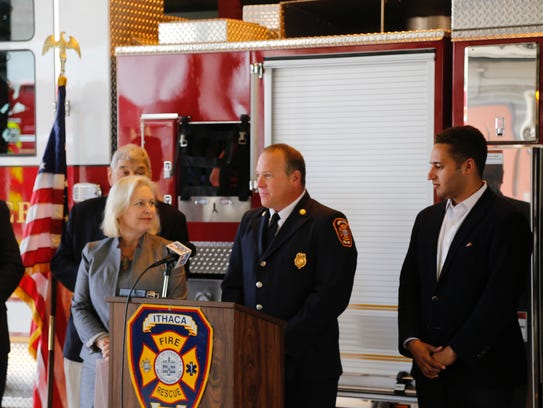 Assistant fire chief Brian Weinstein discusses how
