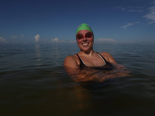 Fort Myers High graduate Heather Roka trains in the