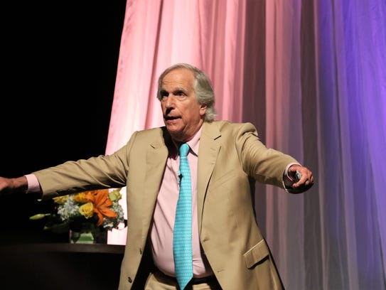 Henry Winkler imitated the position that 'The Fonz'