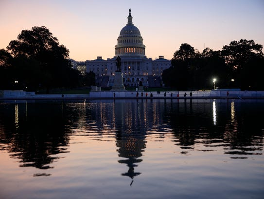 The Capitol is seen at sunrise as Congress returns