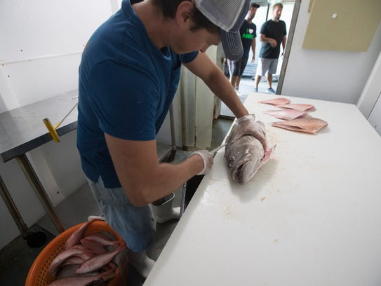 Andy Fischer, the manager at Island Seafood on Matlacha,