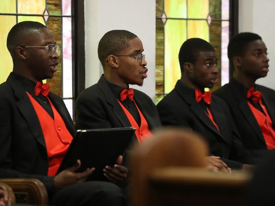 The Boys Choir of Tallahassee practices their songs