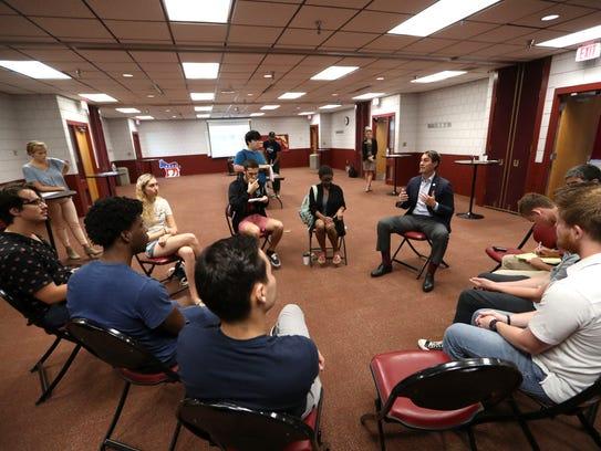Democratic gubernatorial candidate Chris King makes