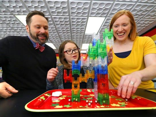 Matt Poulson,  Elinor Poulson and Sarah Fowles at Ruckus