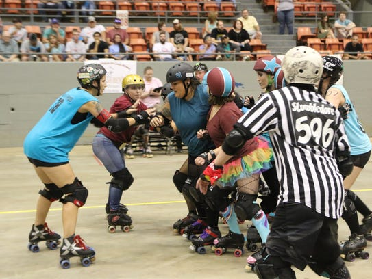 The Roe City Rollers invited skaters from all over