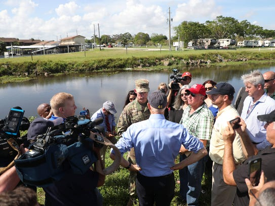Florida Gov. Rick Scott visited Clewiston on Monday