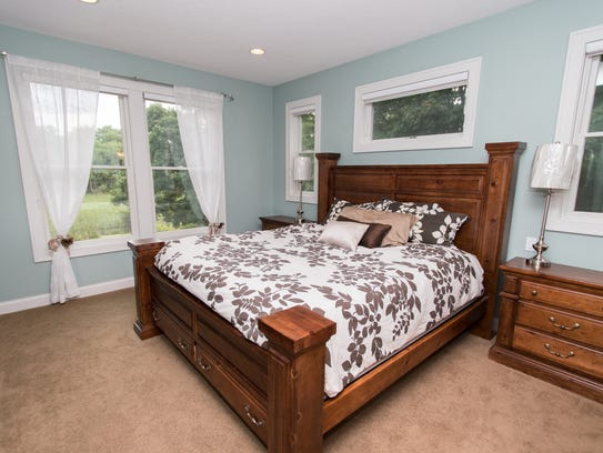 The master bedroom at 8739 Wright County Road 39 NW,