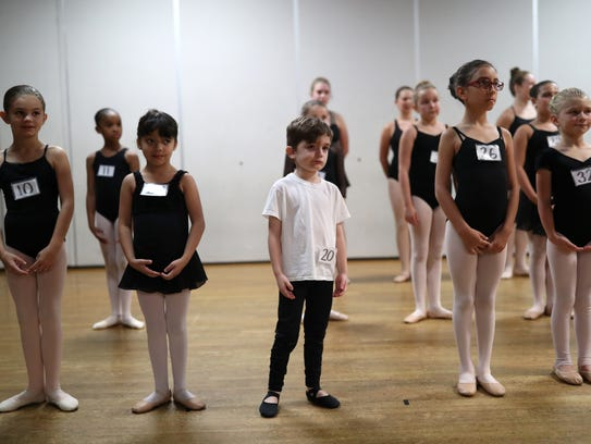 Zeke Martin, 6, auditions for the Moscow Ballet at