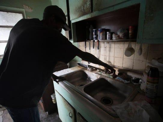 Charleston Park resident, Willie McGee, in his late 60's, relies on the Dr. Piper Center for Social Services for transportation to buy water and other groceries. The Vietnam veteran drinks the well water after mixing it with Kool-Aid or boiling it for coffee. But the Dr. Piper Center volunteer who helps him wishes he didn't drink it all.